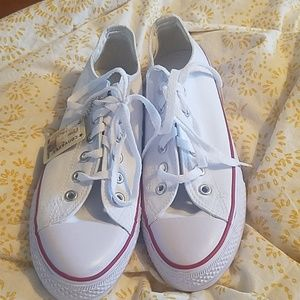 White Converse New with Tags